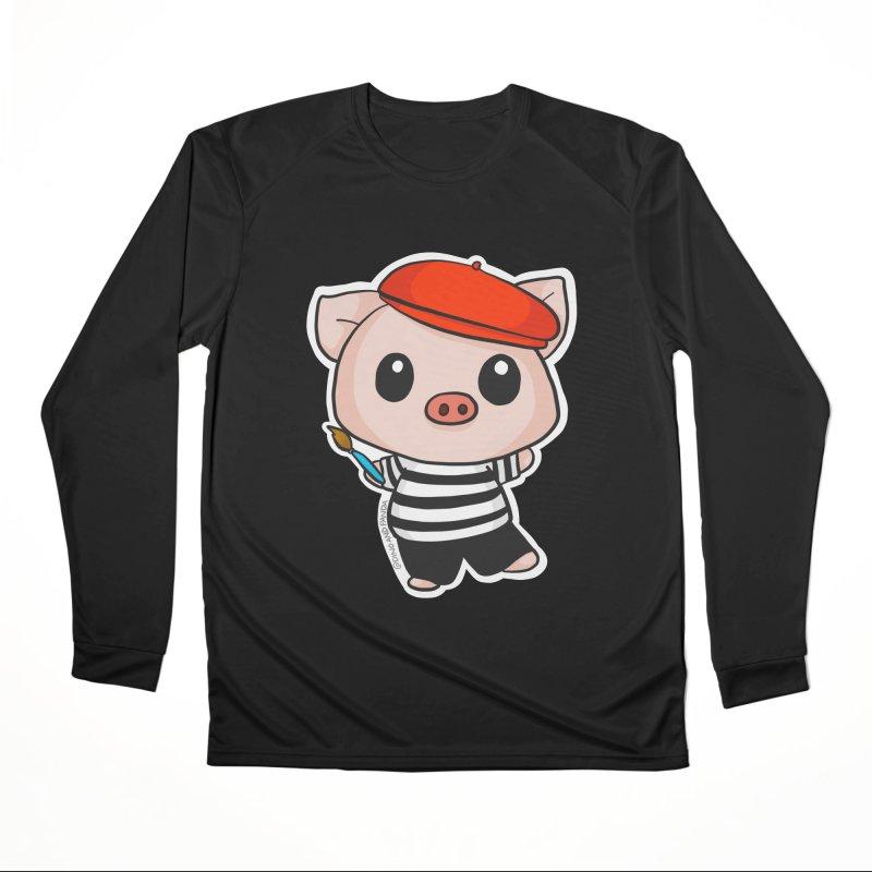 Pablo Pigcasso Men's Performance Longsleeve T-Shirt by Dino & Panda Inc Artist Shop