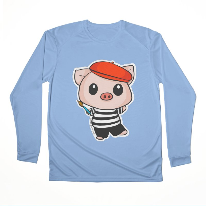 Pablo Pigcasso Women's Longsleeve T-Shirt by Dino & Panda Artist Shop