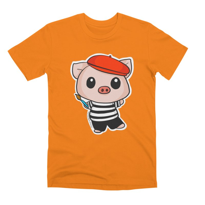 Pablo Pigcasso Men's T-Shirt by Dino & Panda Inc Artist Shop