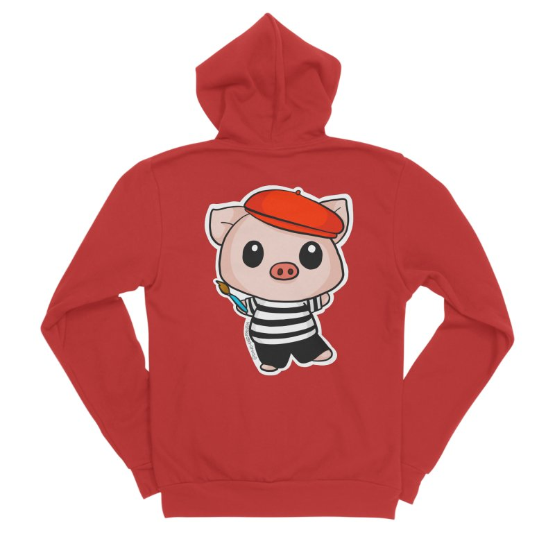 Pablo Pigcasso Men's Zip-Up Hoody by Dino & Panda Artist Shop