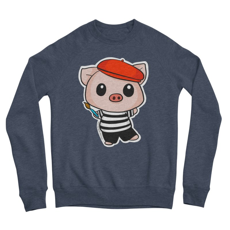 Pablo Pigcasso Women's Sponge Fleece Sweatshirt by Dino & Panda Inc Artist Shop