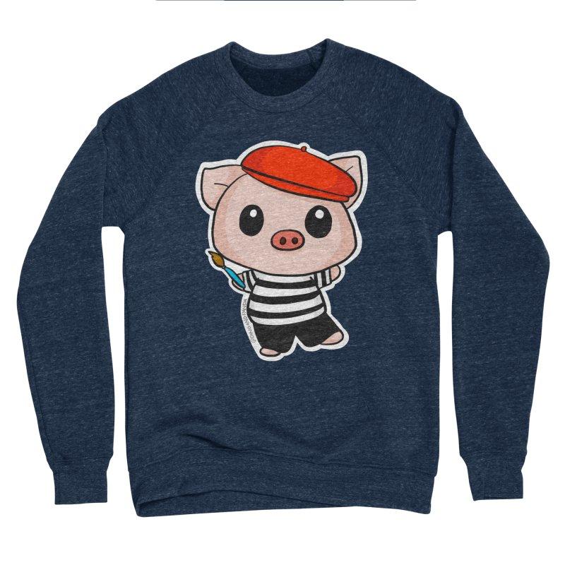 Pablo Pigcasso Men's Sponge Fleece Sweatshirt by Dino & Panda Inc Artist Shop