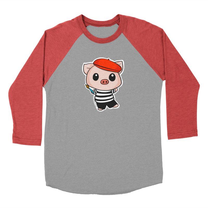 Pablo Pigcasso Men's Longsleeve T-Shirt by Dino & Panda Artist Shop