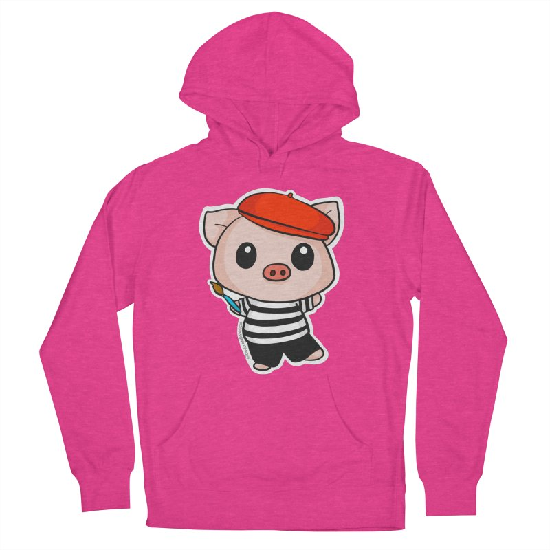 Pablo Pigcasso Women's French Terry Pullover Hoody by Dino & Panda Inc Artist Shop