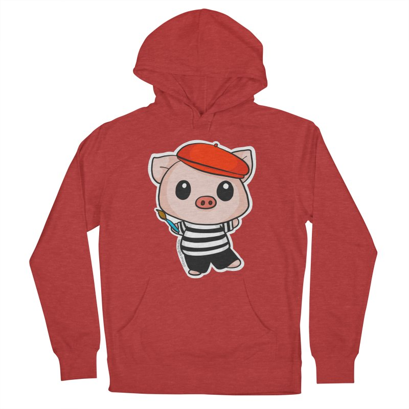 Pablo Pigcasso Men's French Terry Pullover Hoody by Dino & Panda Inc Artist Shop