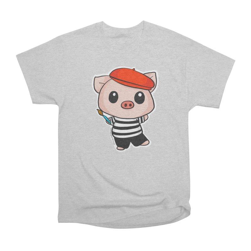 Pablo Pigcasso Men's Heavyweight T-Shirt by Dino & Panda Inc Artist Shop