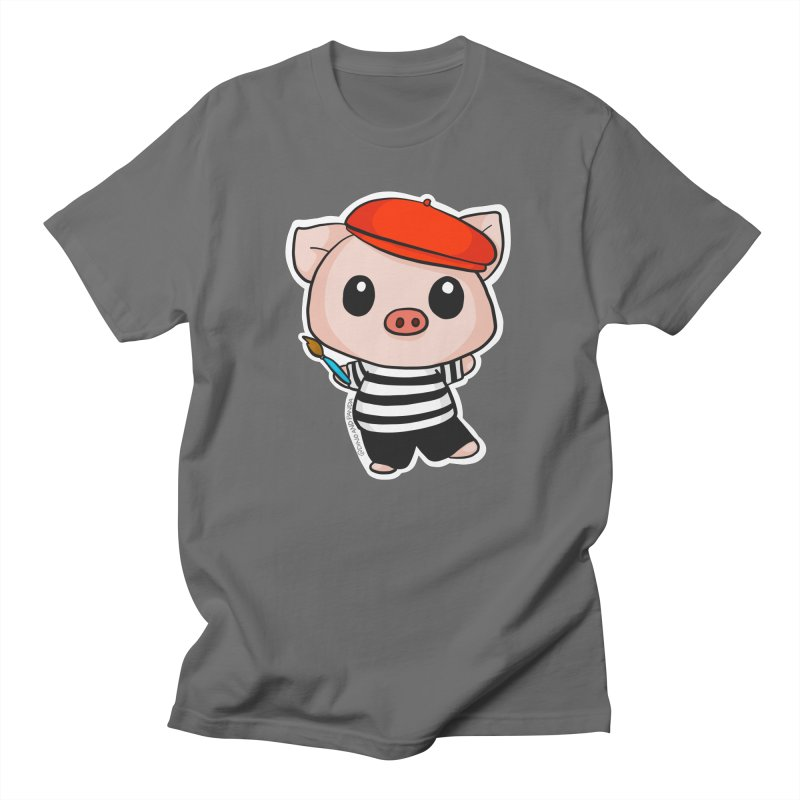 Pablo Pigcasso Men's T-Shirt by Dino & Panda Artist Shop