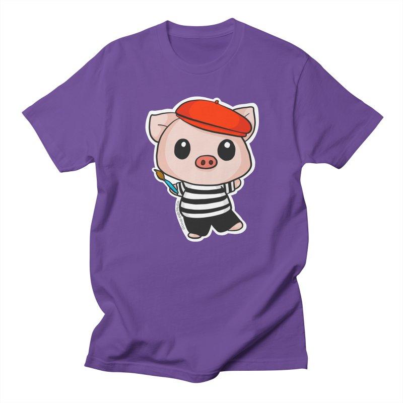 Pablo Pigcasso Women's Regular Unisex T-Shirt by Dino & Panda Inc Artist Shop