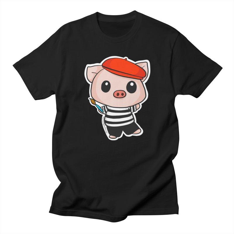 Pablo Pigcasso Men's Regular T-Shirt by Dino & Panda Inc Artist Shop