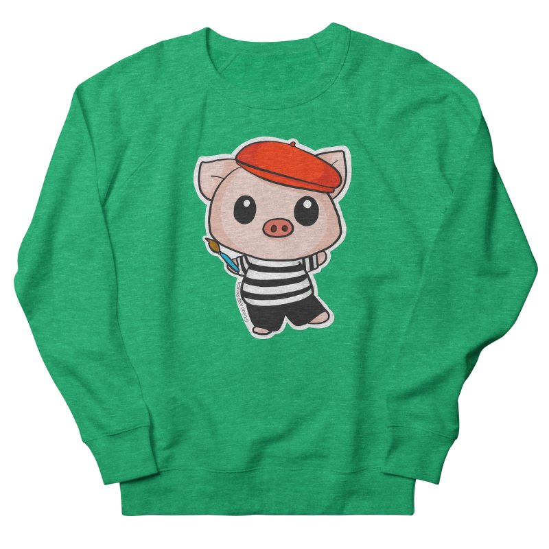 Pablo Pigcasso Women's Sweatshirt by Dino & Panda Artist Shop