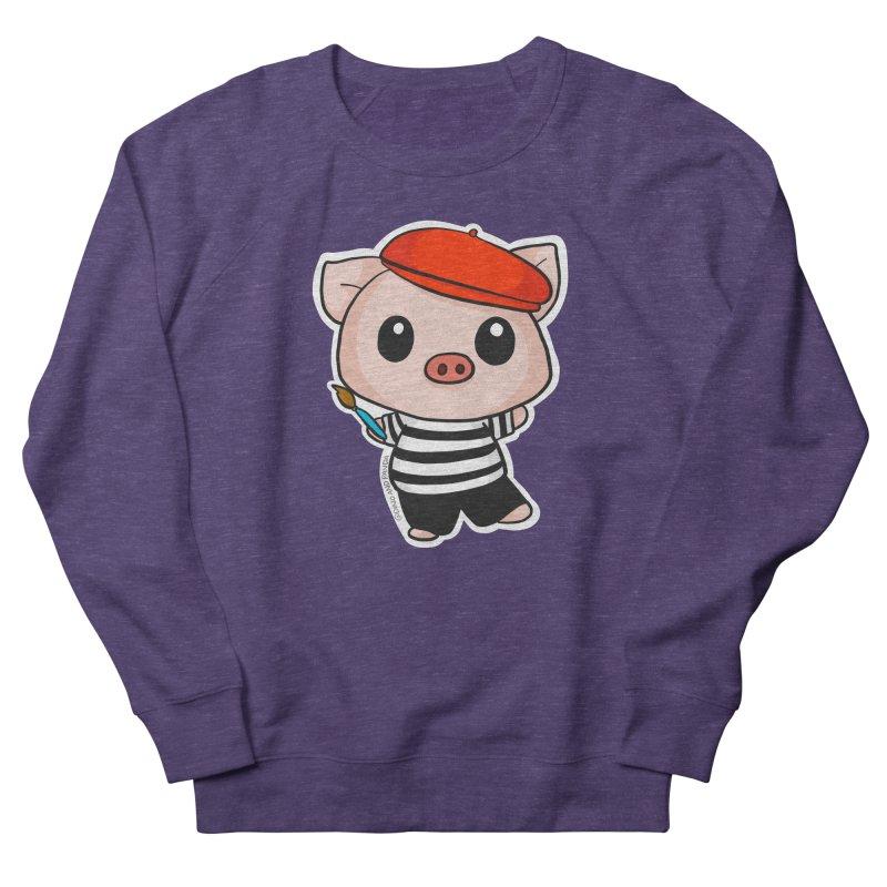 Pablo Pigcasso Women's French Terry Sweatshirt by Dino & Panda Inc Artist Shop