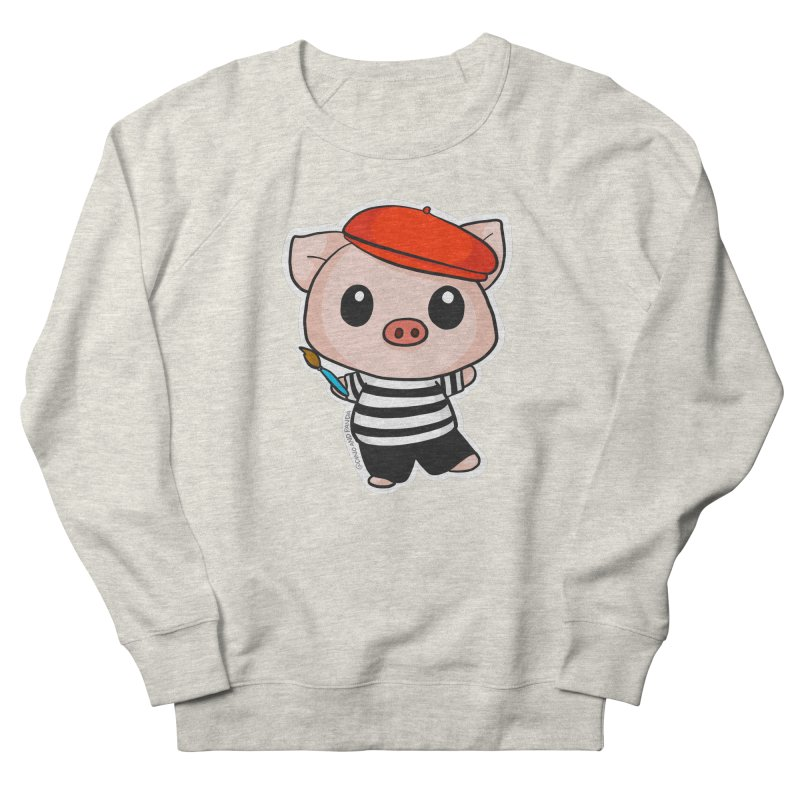 Pablo Pigcasso Women's French Terry Sweatshirt by Dino & Panda Inc Artist Shop