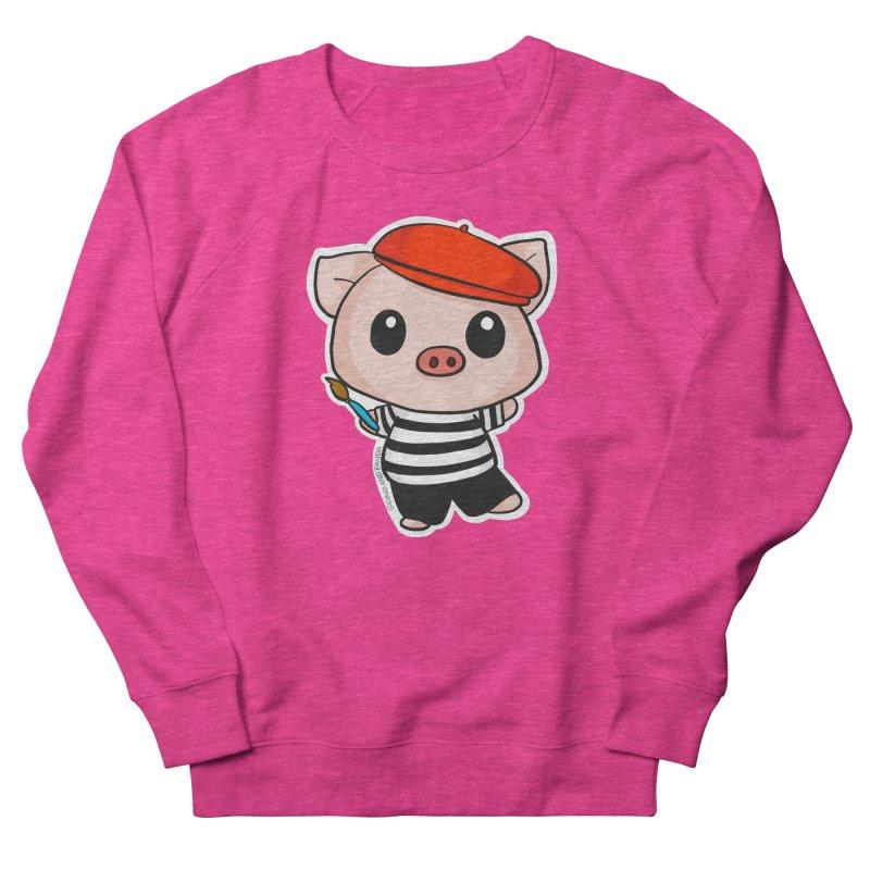 Pablo Pigcasso Men's French Terry Sweatshirt by Dino & Panda Inc Artist Shop