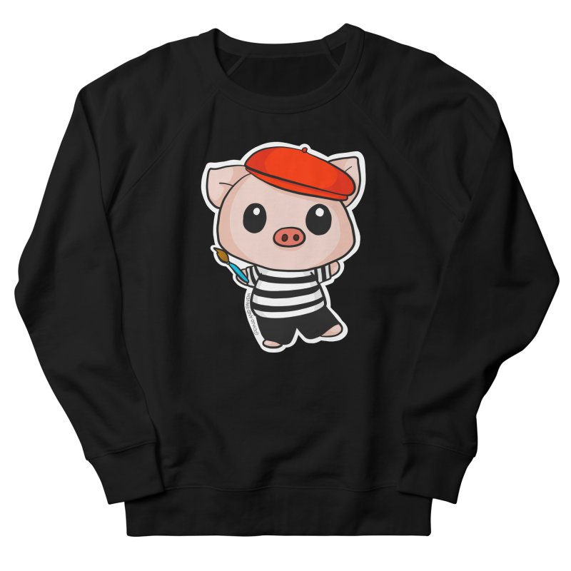 Pablo Pigcasso Men's French Terry Sweatshirt by Dino & Panda Inc Artist Shop