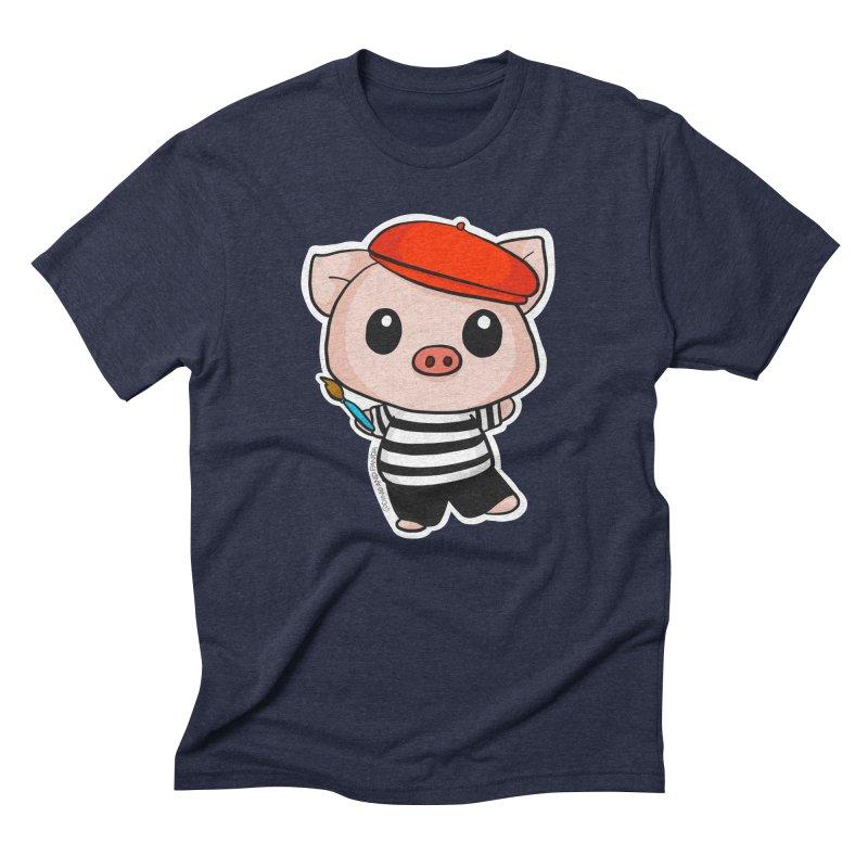 Pablo Pigcasso Men's Triblend T-Shirt by Dino & Panda Inc Artist Shop