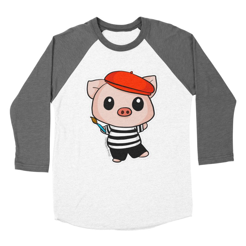 Pablo Pigcasso Women's Longsleeve T-Shirt by Dino & Panda Inc Artist Shop
