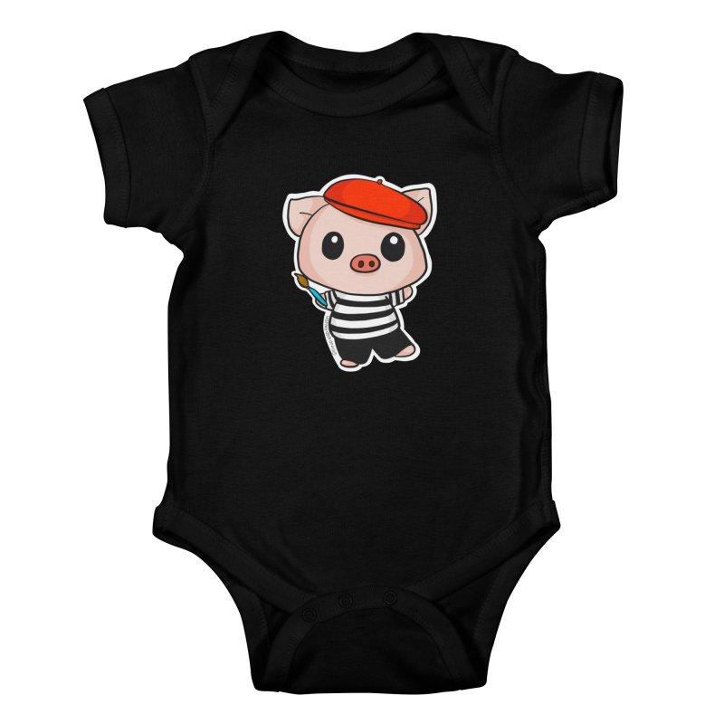 Pablo Pigcasso Kids Baby Bodysuit by Dino & Panda Inc Artist Shop