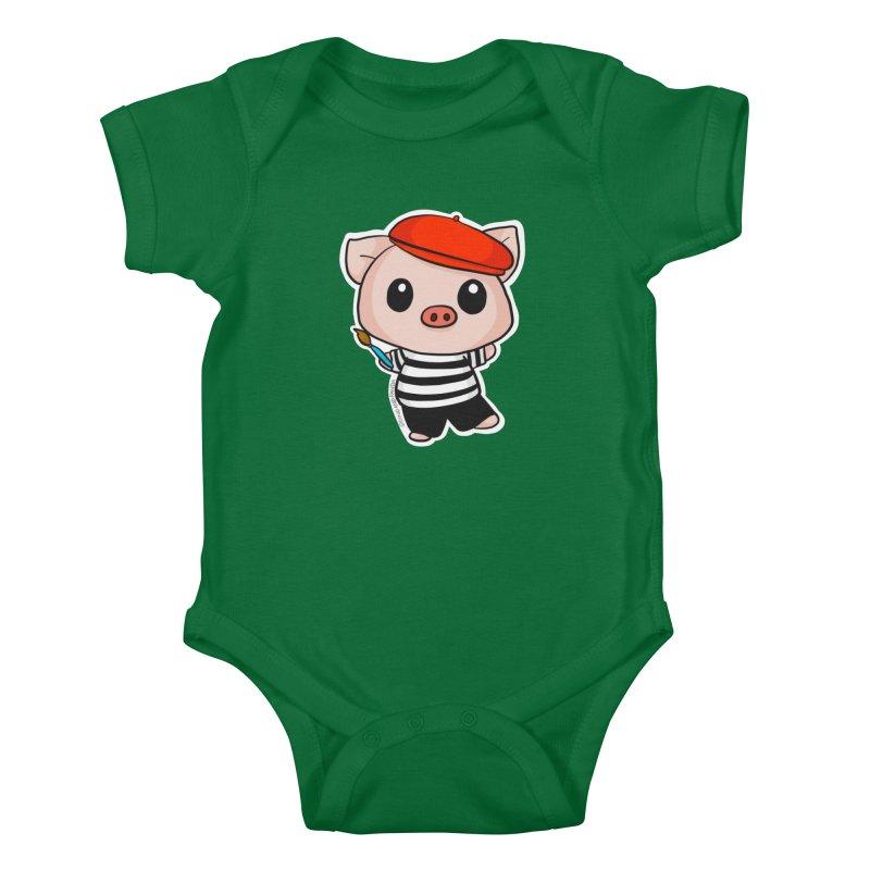 Pablo Pigcasso Kids Baby Bodysuit by Dino & Panda Artist Shop