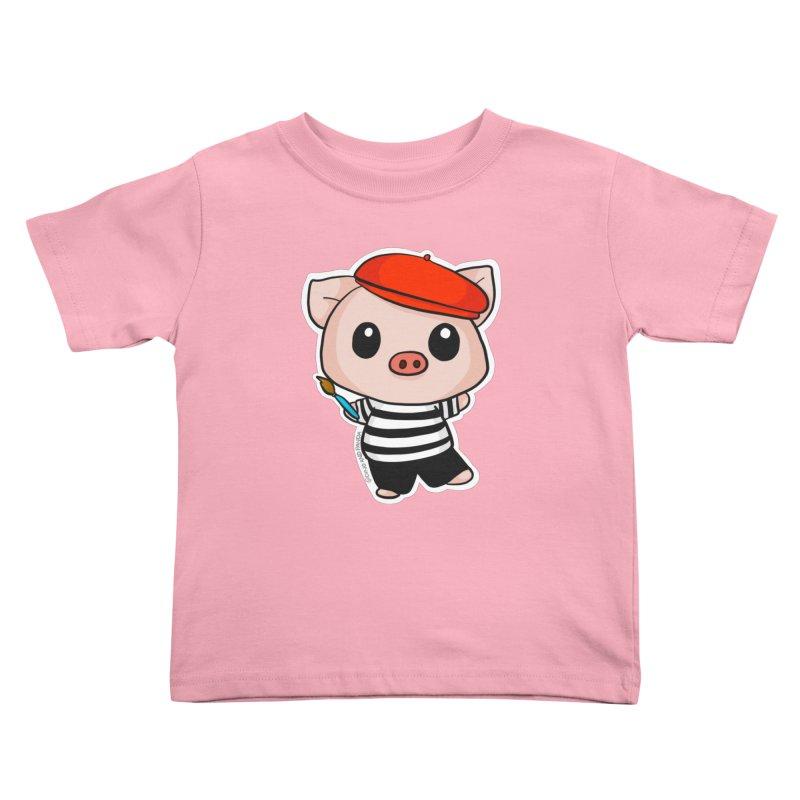 Pablo Pigcasso Kids Toddler T-Shirt by Dino & Panda Inc Artist Shop