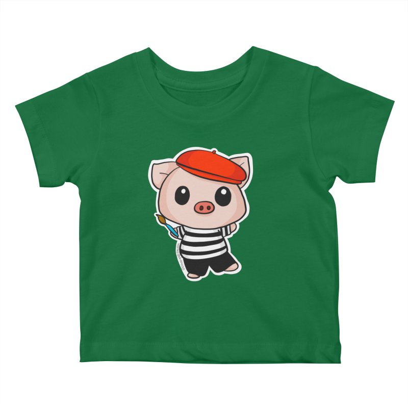 Pablo Pigcasso Kids Baby T-Shirt by Dino & Panda Inc Artist Shop