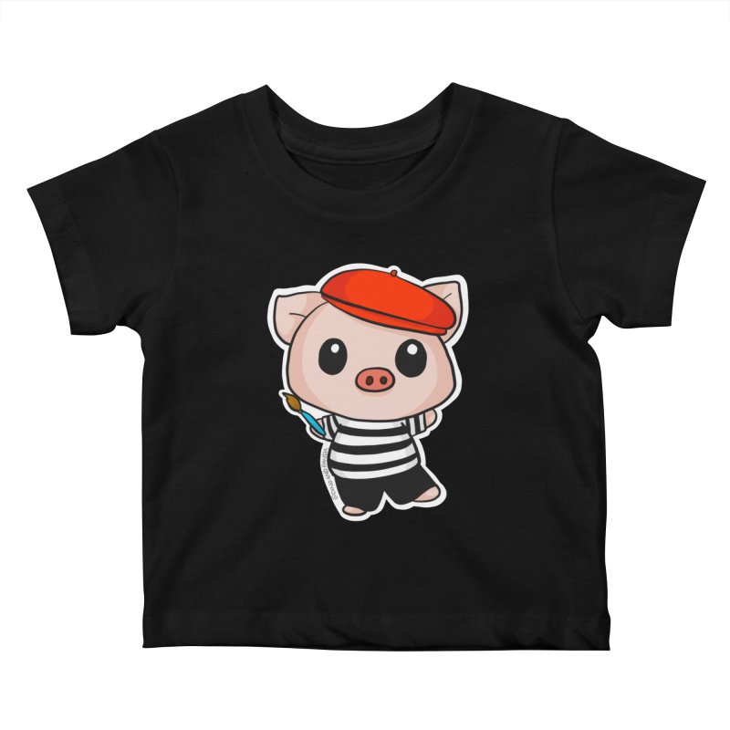Pablo Pigcasso Kids Baby T-Shirt by Dino & Panda Inc Artist Shop