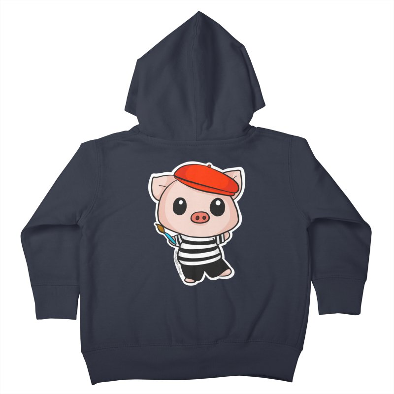 Pablo Pigcasso Kids Toddler Zip-Up Hoody by Dino & Panda Inc Artist Shop