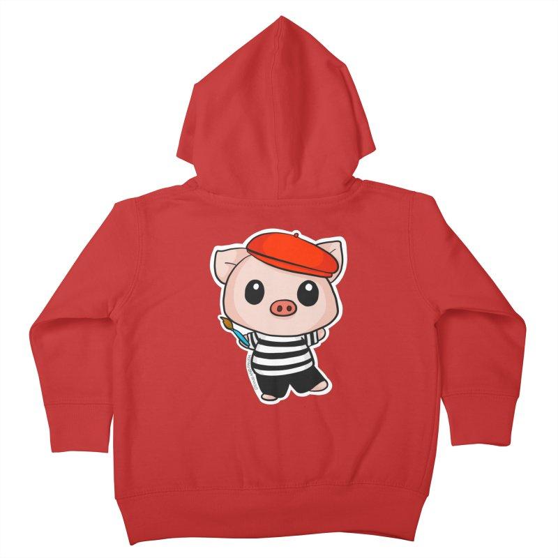 Pablo Pigcasso Kids Toddler Zip-Up Hoody by Dino & Panda Artist Shop