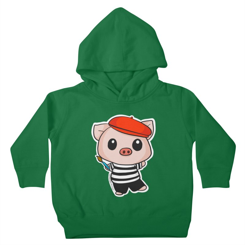 Pablo Pigcasso Kids Toddler Pullover Hoody by Dino & Panda Inc Artist Shop