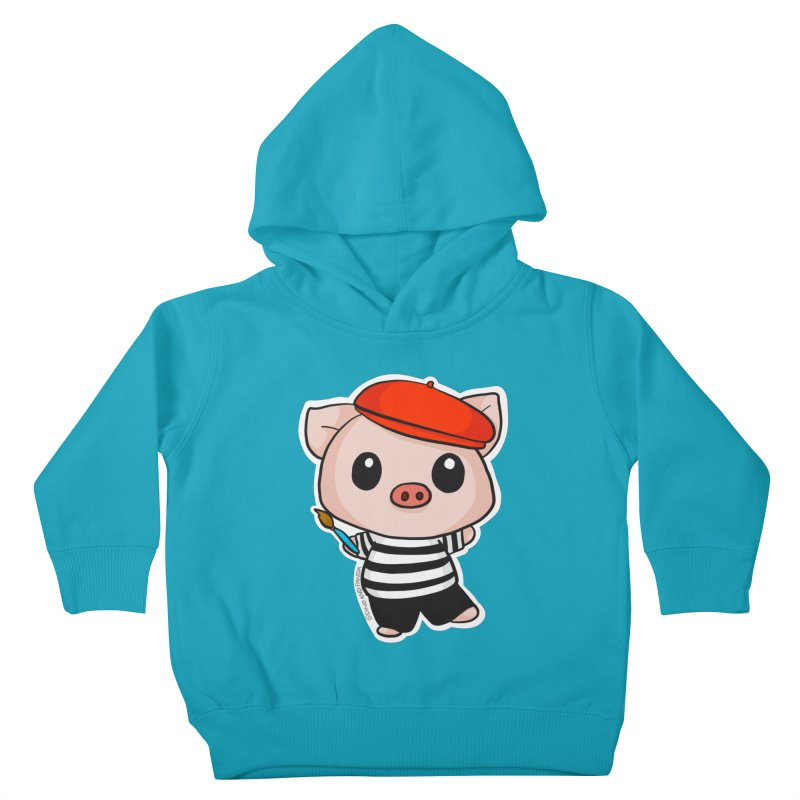 Pablo Pigcasso Kids Toddler Pullover Hoody by Dino & Panda Inc Artist Shop