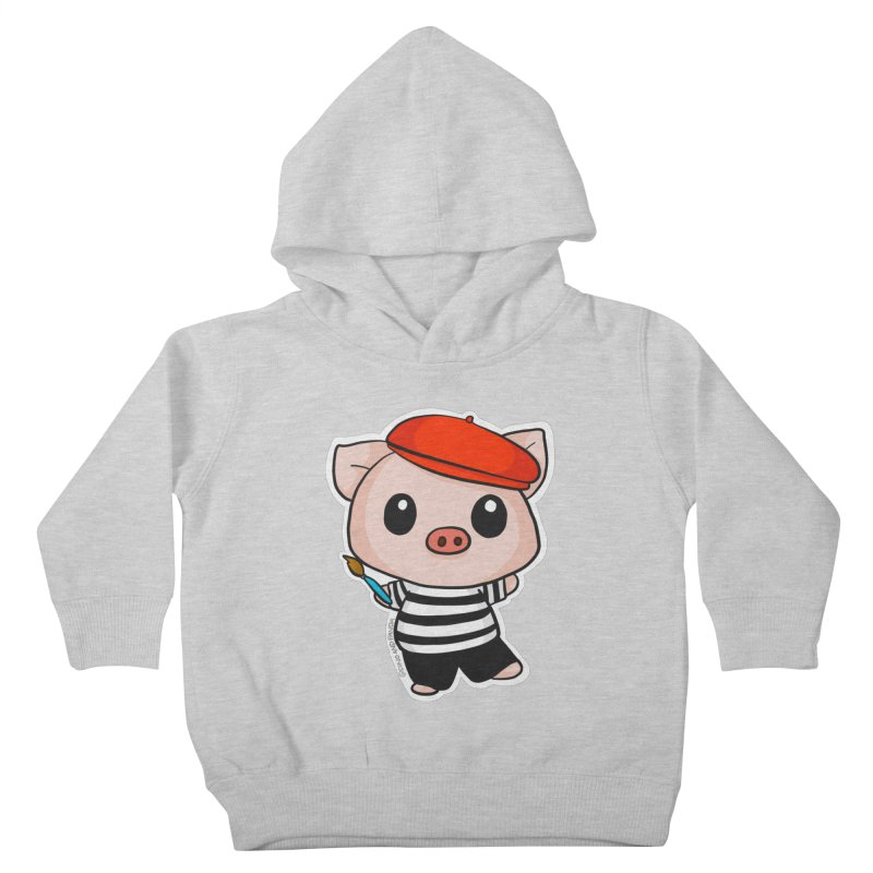 Pablo Pigcasso Kids Toddler Pullover Hoody by Dino & Panda Artist Shop