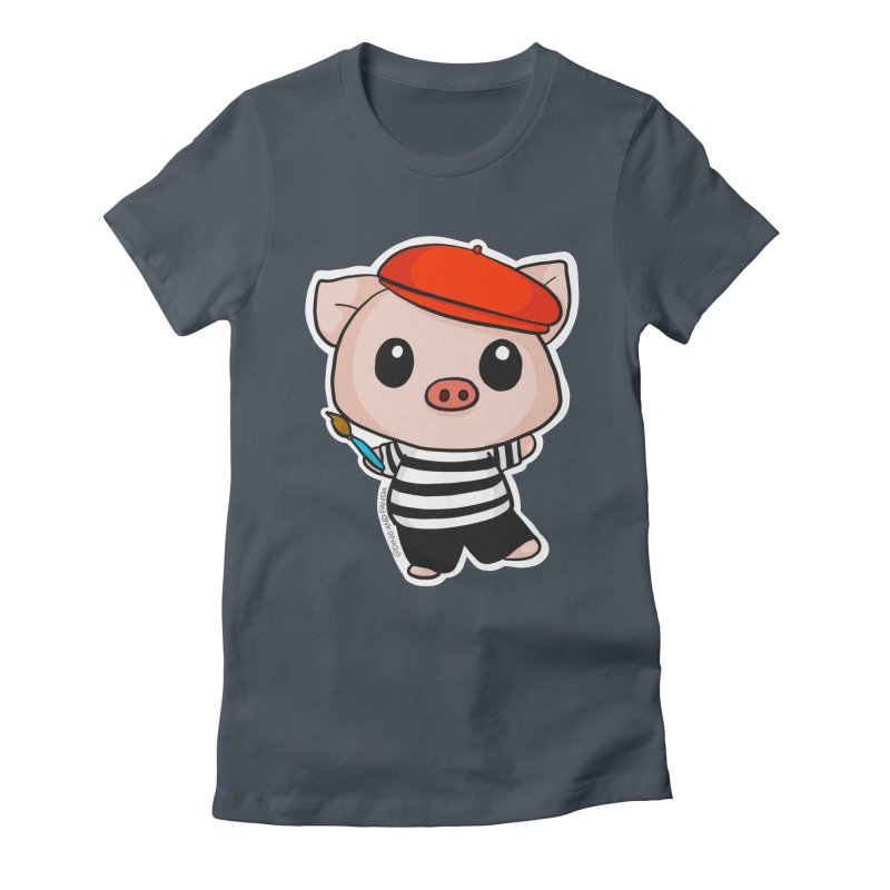 Pablo Pigcasso Women's T-Shirt by Dino & Panda Inc Artist Shop
