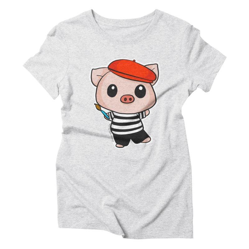 Pablo Pigcasso Women's T-Shirt by Dino & Panda Artist Shop