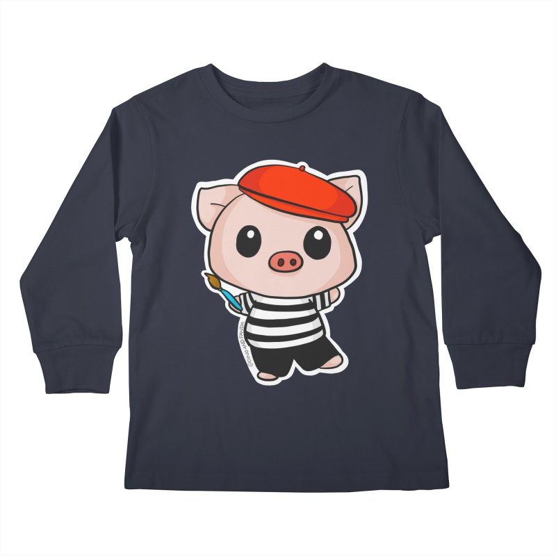 Pablo Pigcasso Kids Longsleeve T-Shirt by Dino & Panda Artist Shop