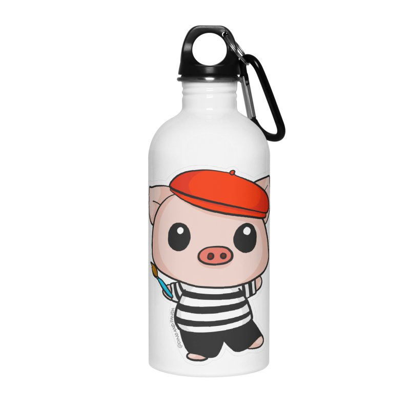 Pablo Pigcasso Accessories Water Bottle by Dino & Panda Inc Artist Shop