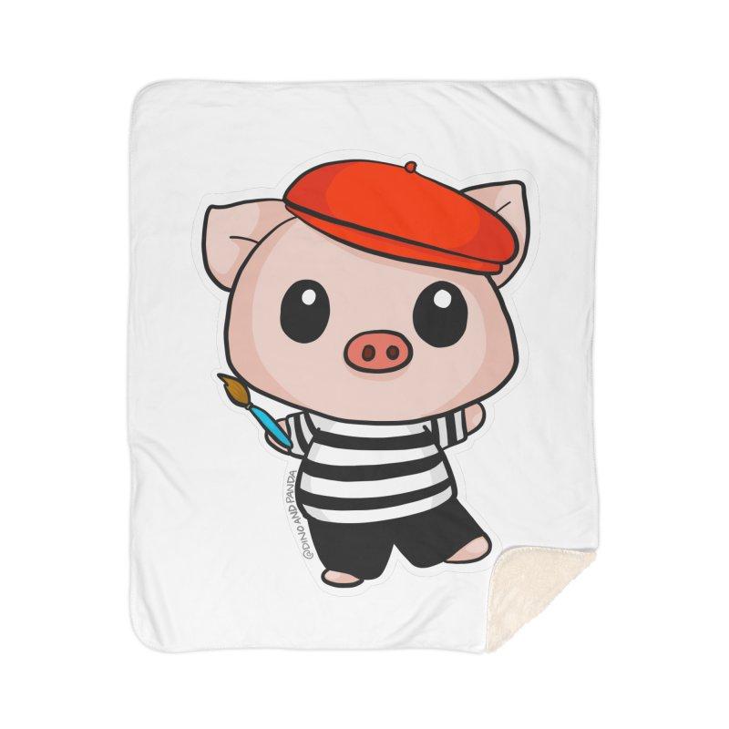 Pablo Pigcasso Home Blanket by Dino & Panda Artist Shop