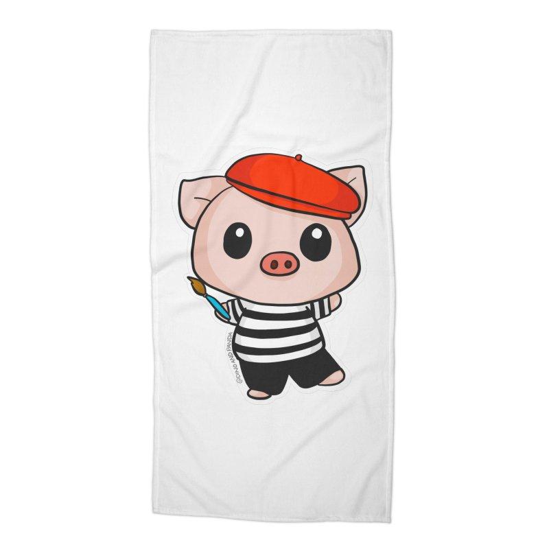 Pablo Pigcasso Accessories Beach Towel by Dino & Panda Inc Artist Shop