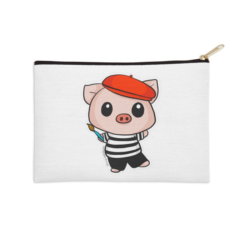 Pablo Pigcasso Accessories Zip Pouch by Dino & Panda Inc Artist Shop