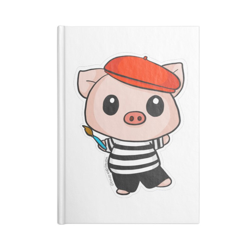 Pablo Pigcasso Accessories Lined Journal Notebook by Dino & Panda Inc Artist Shop