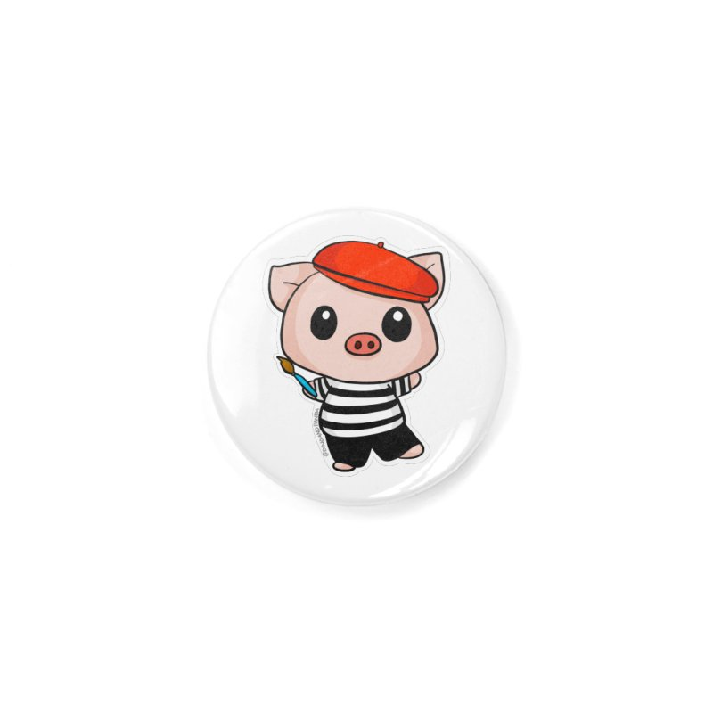 Pablo Pigcasso Accessories Button by Dino & Panda Inc Artist Shop