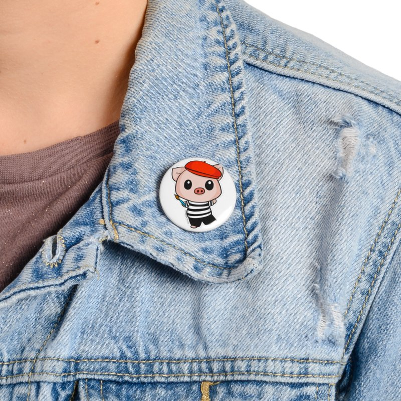 Pablo Pigcasso Accessories Button by Dino & Panda Artist Shop