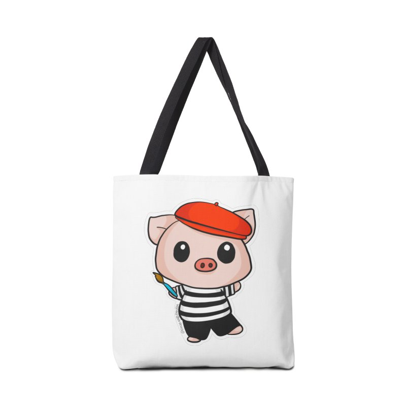 Pablo Pigcasso Accessories Tote Bag Bag by Dino & Panda Inc Artist Shop