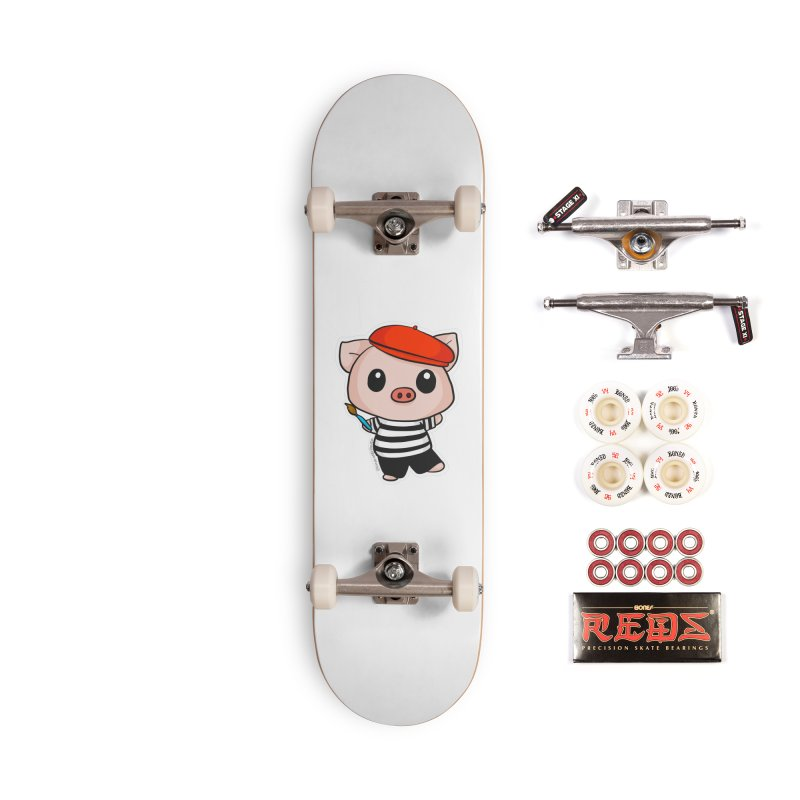 Pablo Pigcasso Accessories Complete - Pro Skateboard by Dino & Panda Inc Artist Shop