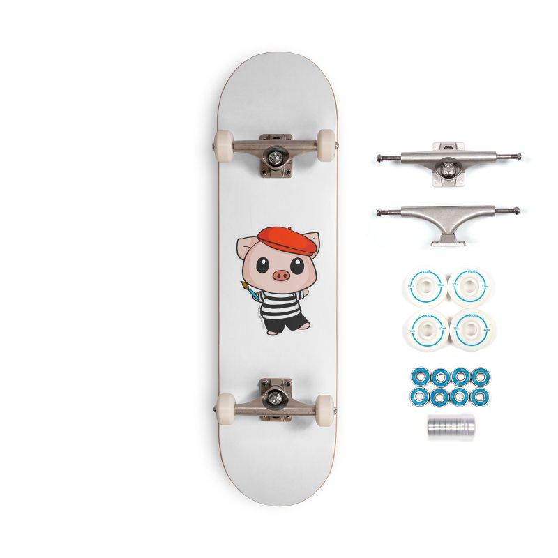Pablo Pigcasso Accessories Complete - Basic Skateboard by Dino & Panda Inc Artist Shop