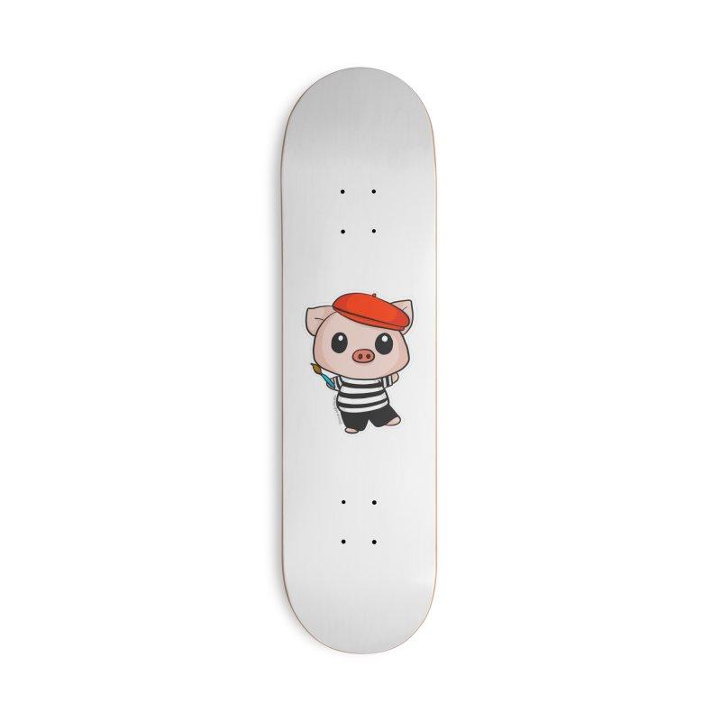 Pablo Pigcasso Accessories Deck Only Skateboard by Dino & Panda Inc Artist Shop