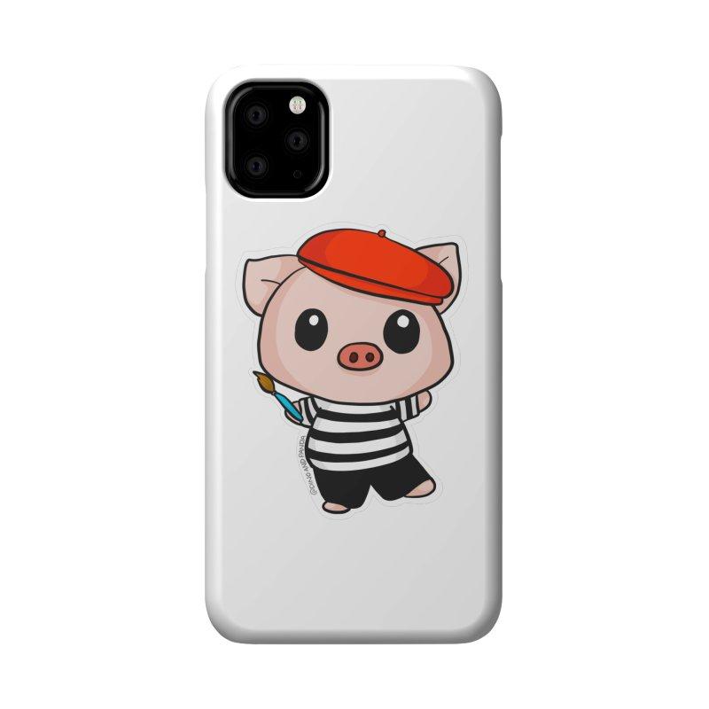 Pablo Pigcasso Accessories Phone Case by Dino & Panda Inc Artist Shop