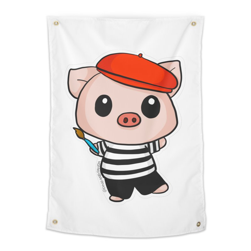Pablo Pigcasso Home Tapestry by Dino & Panda Inc Artist Shop
