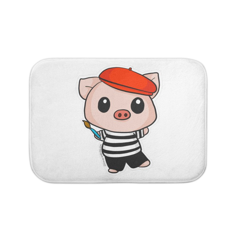 Pablo Pigcasso Home Bath Mat by Dino & Panda Inc Artist Shop