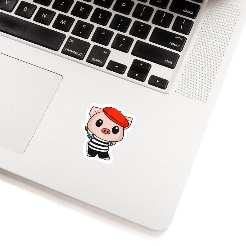 Pablo Pigcasso Accessories Sticker by Dino & Panda Inc Artist Shop