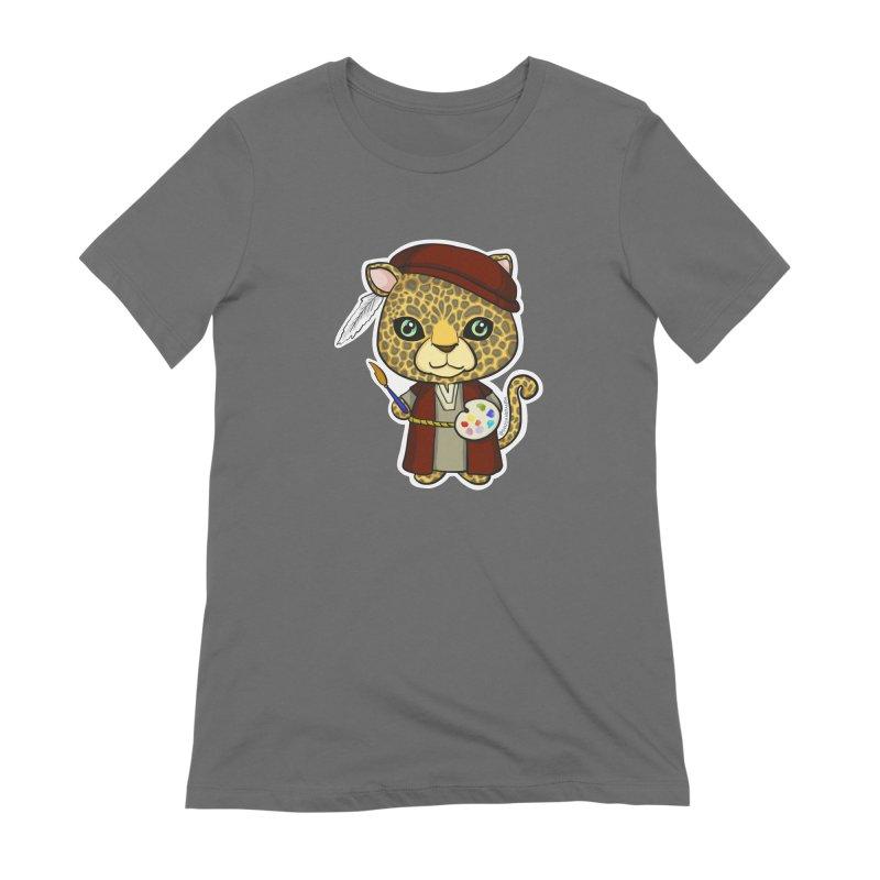 Leopardo da Vinci Women's T-Shirt by Dino & Panda Artist Shop