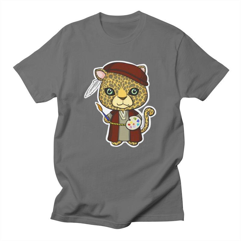 Leopardo da Vinci Men's T-Shirt by Dino & Panda Artist Shop